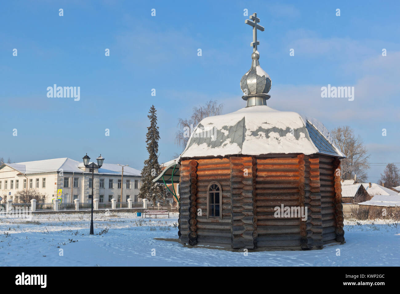Chapel Kirill Velsky on street Dzerzhinsky in the city Velsk Arkhangelsk region, Russia - Stock Image