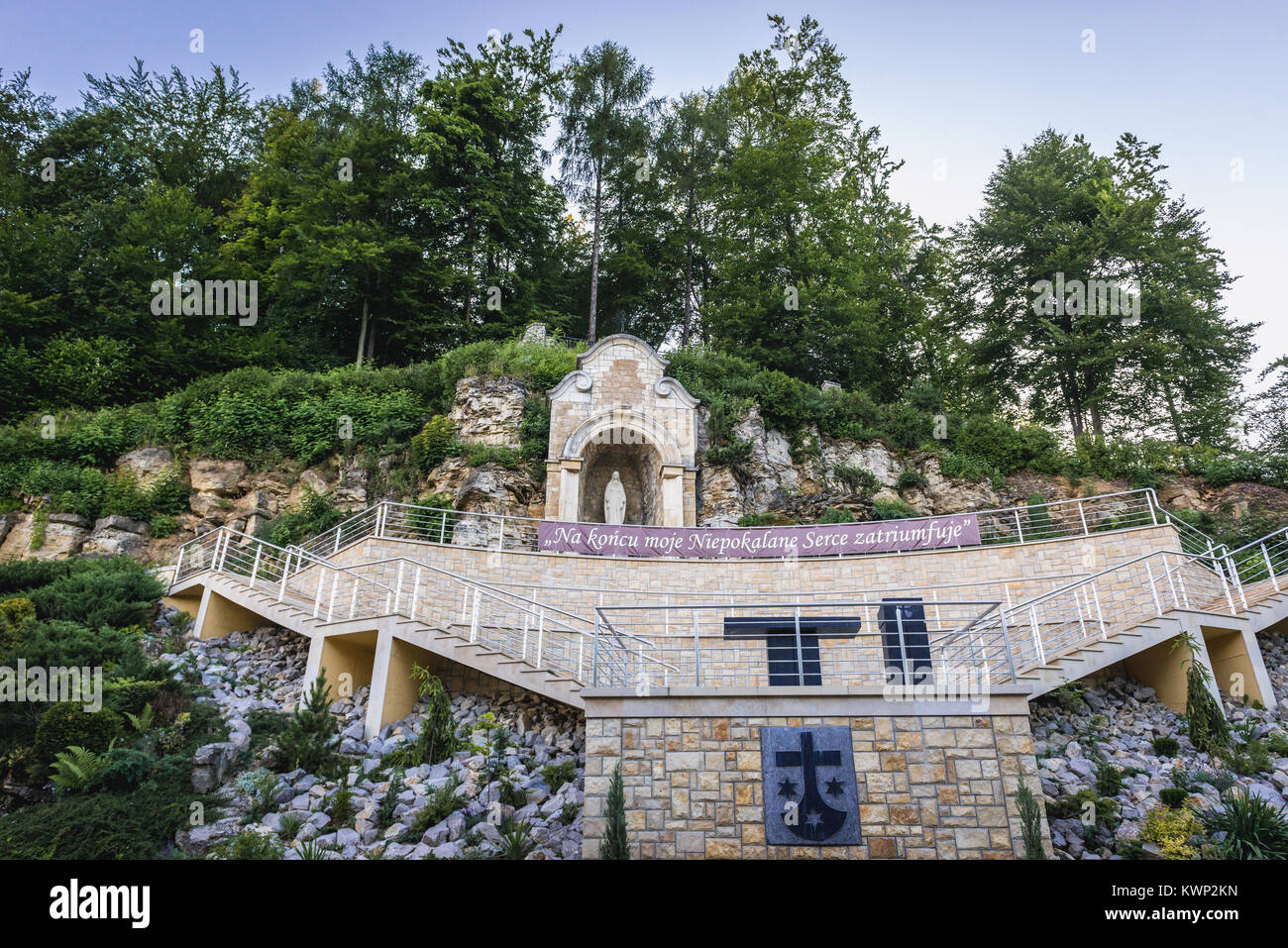 Monastery of Discalced Carmelites in Czerna village in Lesser Poland Voivodeship of Poland - Stock Image