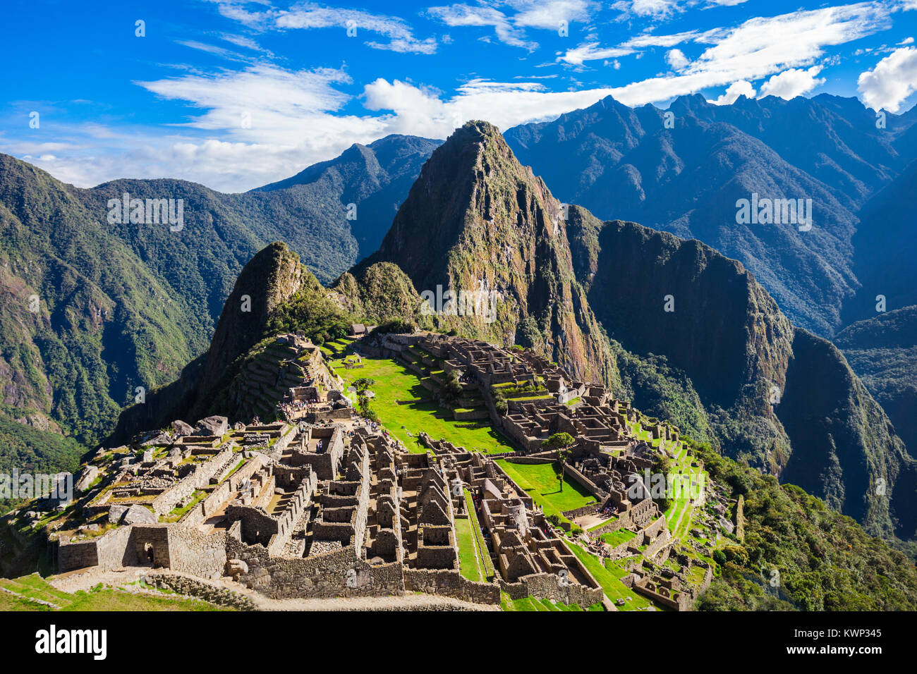 Machu Picchu is one of the New Seven Wonders of the World. - Stock Image