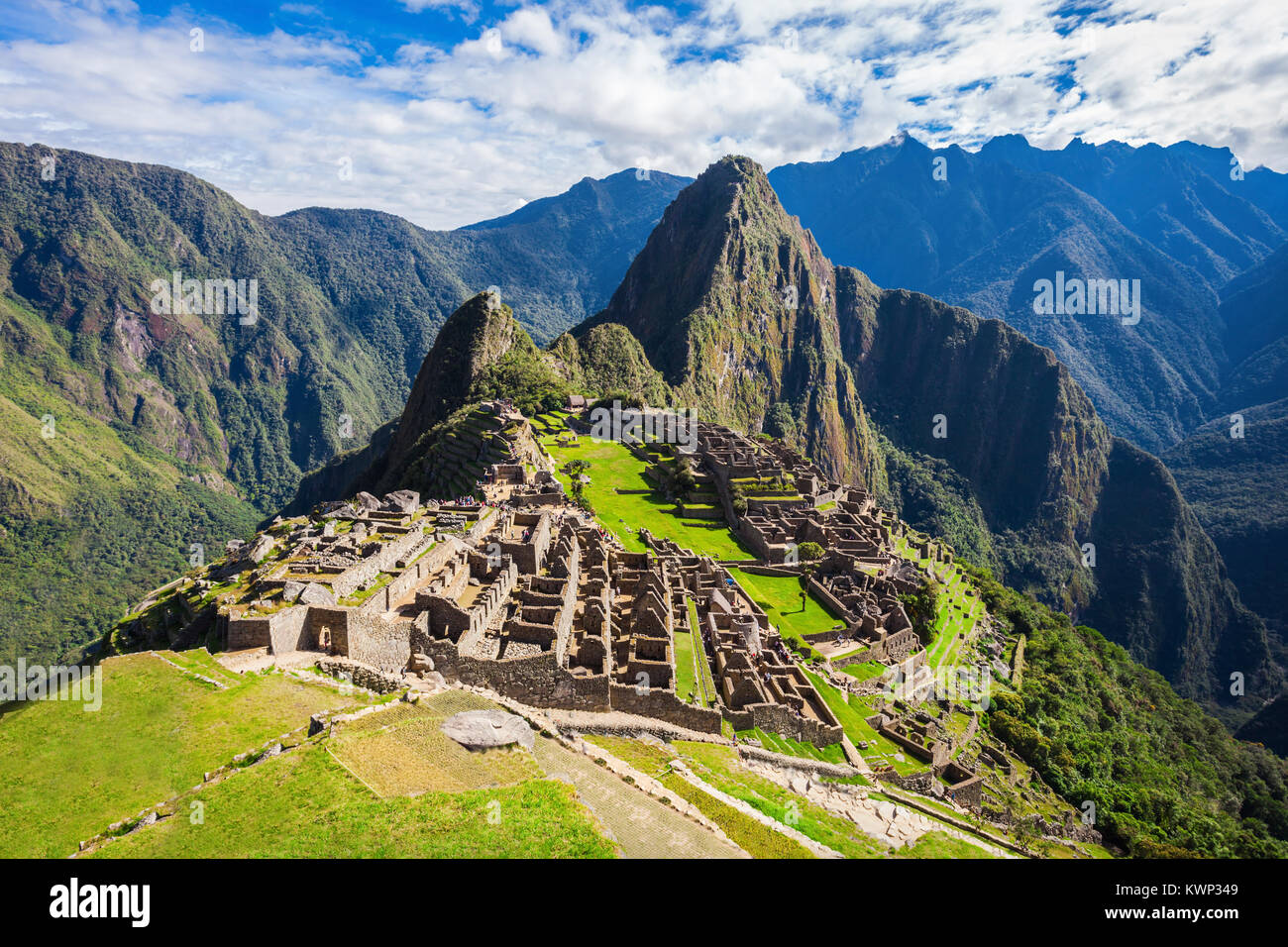Machu Picchu, a UNESCO World Heritage Site in 1983. One of the New Seven Wonders of the World. - Stock Image