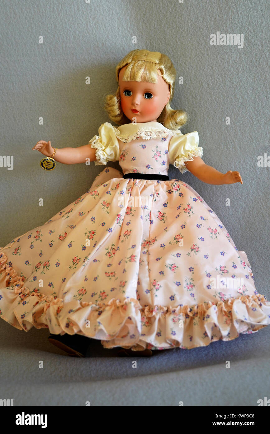 rare 1950 vintage Madam Alexander doll Stock Photo