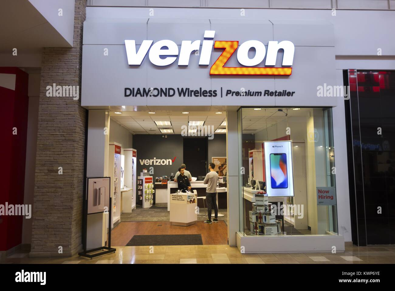 Verizon Wireless Store Front In Superstition Shopping Mall