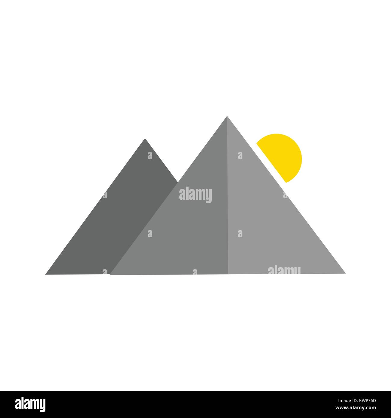 Simple Abstract Mountain Shape Vector Illustration Graphic Design - Stock Image