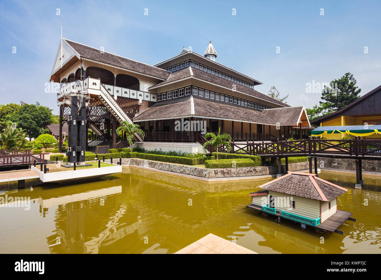 Taman Mini Indonesia Indah is a culture based recreational area located in East Jakarta - Stock Image