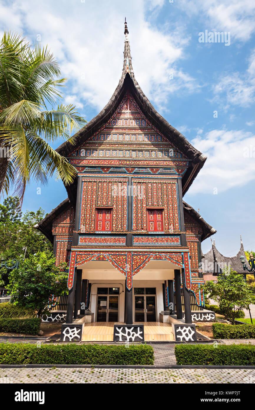 West Sumatra pavilion in Taman Mini Indonesia Park. - Stock Image