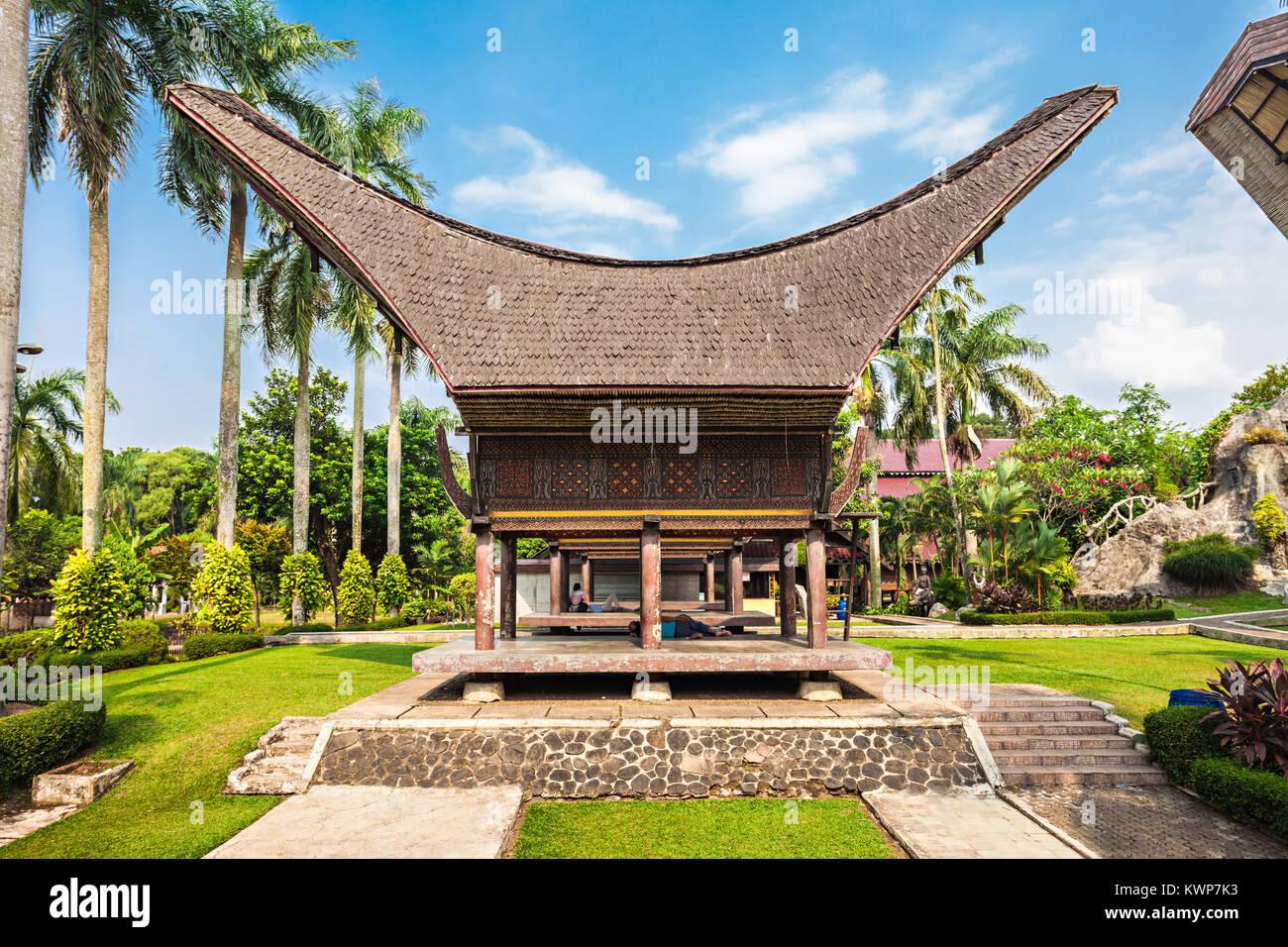 Sulawesi pavilion in the Taman Mini Indonesia Park - Stock Image