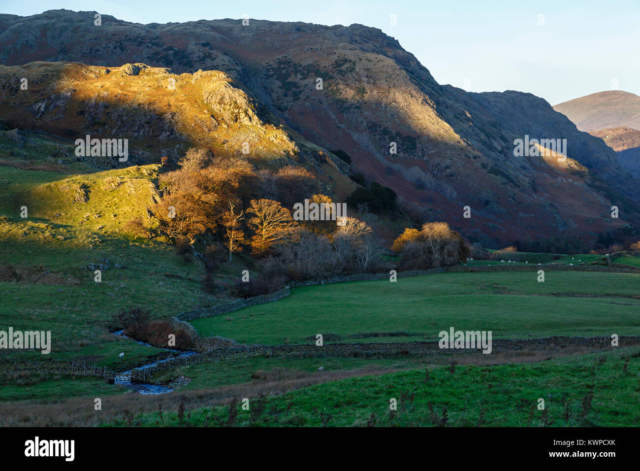 Scrow Beck and Foul Scrow near Coniston, Lake District National Park, Cumbria - Stock Image