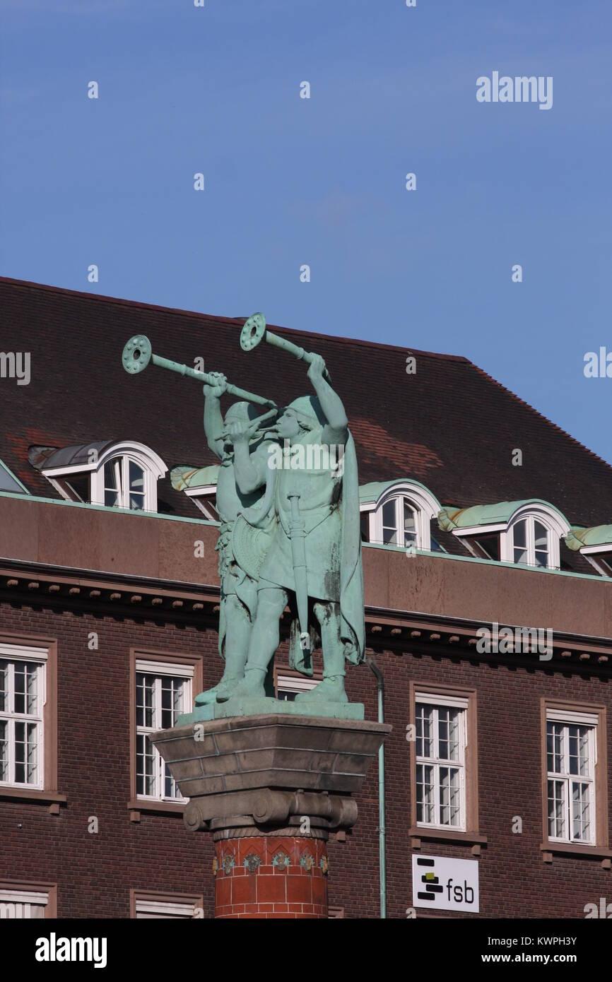 Lure Blowers Statue in Copenhagen, Denmark, - Stock Image
