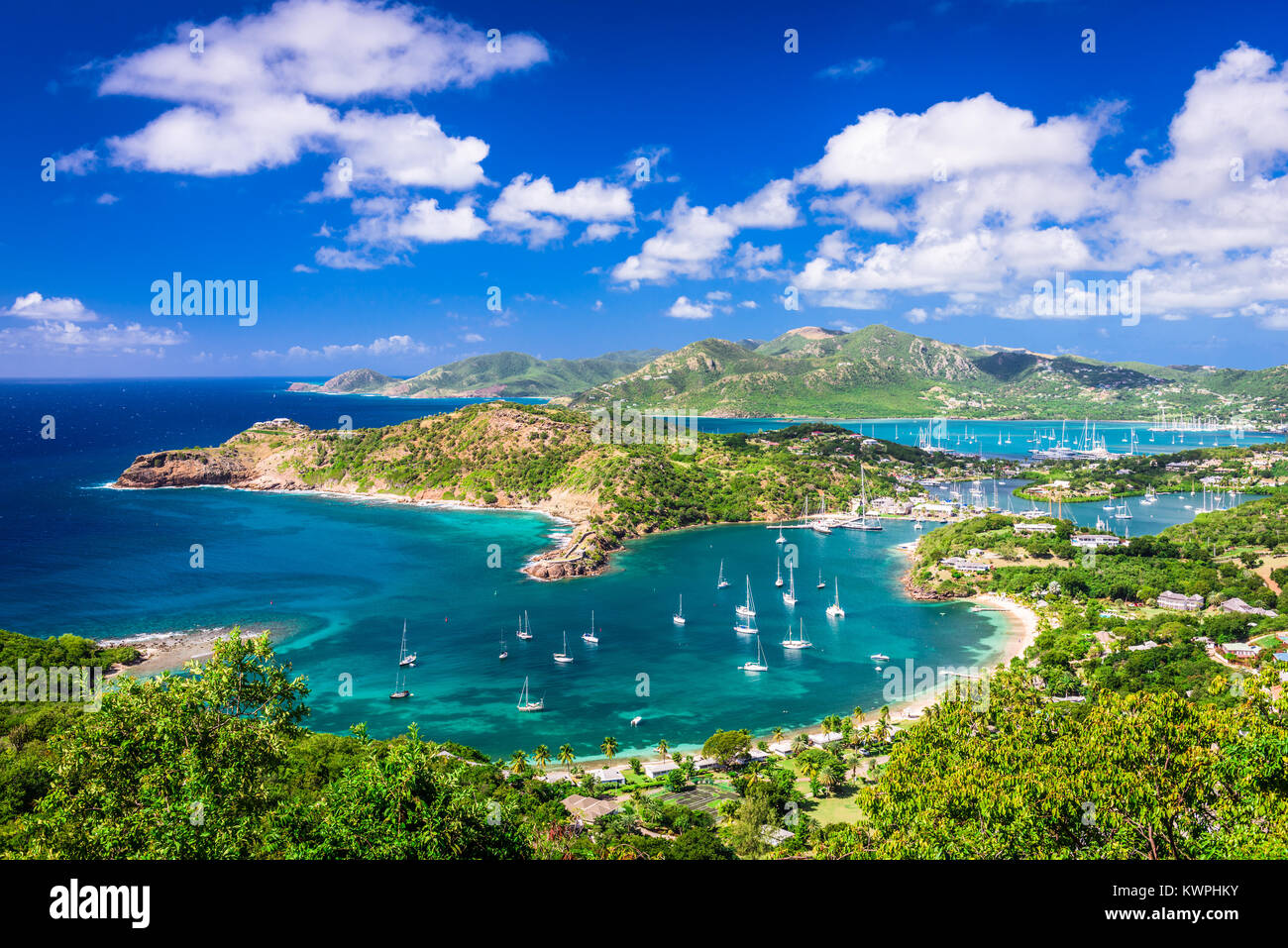 Shirley Heights, Antigua view. - Stock Image