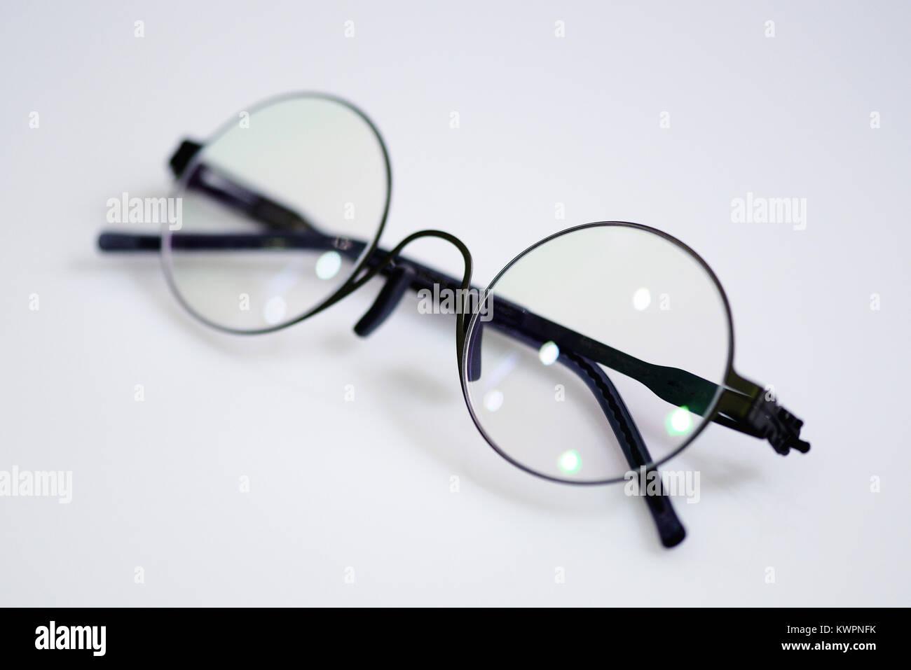 dbc49da658b47 Circle glasses on the white background Stock Photo  170759559 - Alamy