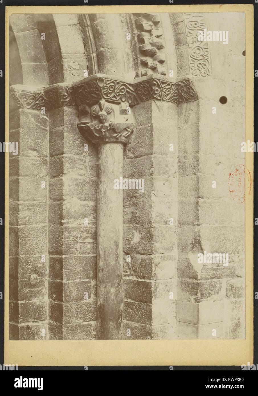 Église des Templiers de Luz-Saint-Sauveur - J-A Brutails - Université Bordeaux Montaigne - 1455 - Stock Image