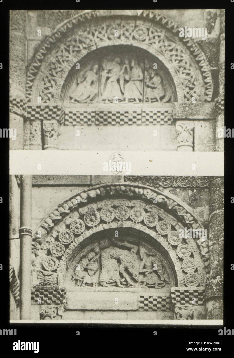 Église Saint-Vivien de Saint-Vivien-de-Médoc - J-A Brutails - Université Bordeaux Montaigne - 2469 - Stock Image