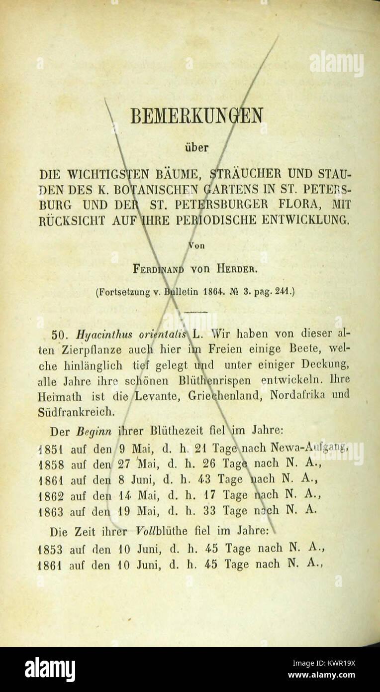 Énumération des nouvelles espèces de coléoptères rapportés de ses voyages BHL42436649 - Stock Image