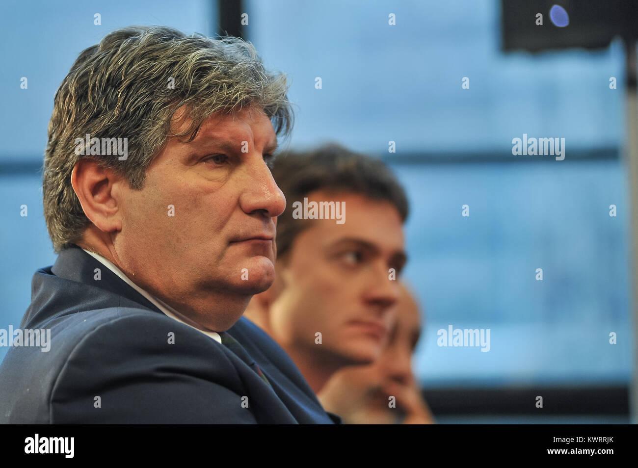 Turin, Italy. 5th Jan, 2018. Antonio Comi dirigent Torino FC during the first media conference presentation Walter Stock Photo
