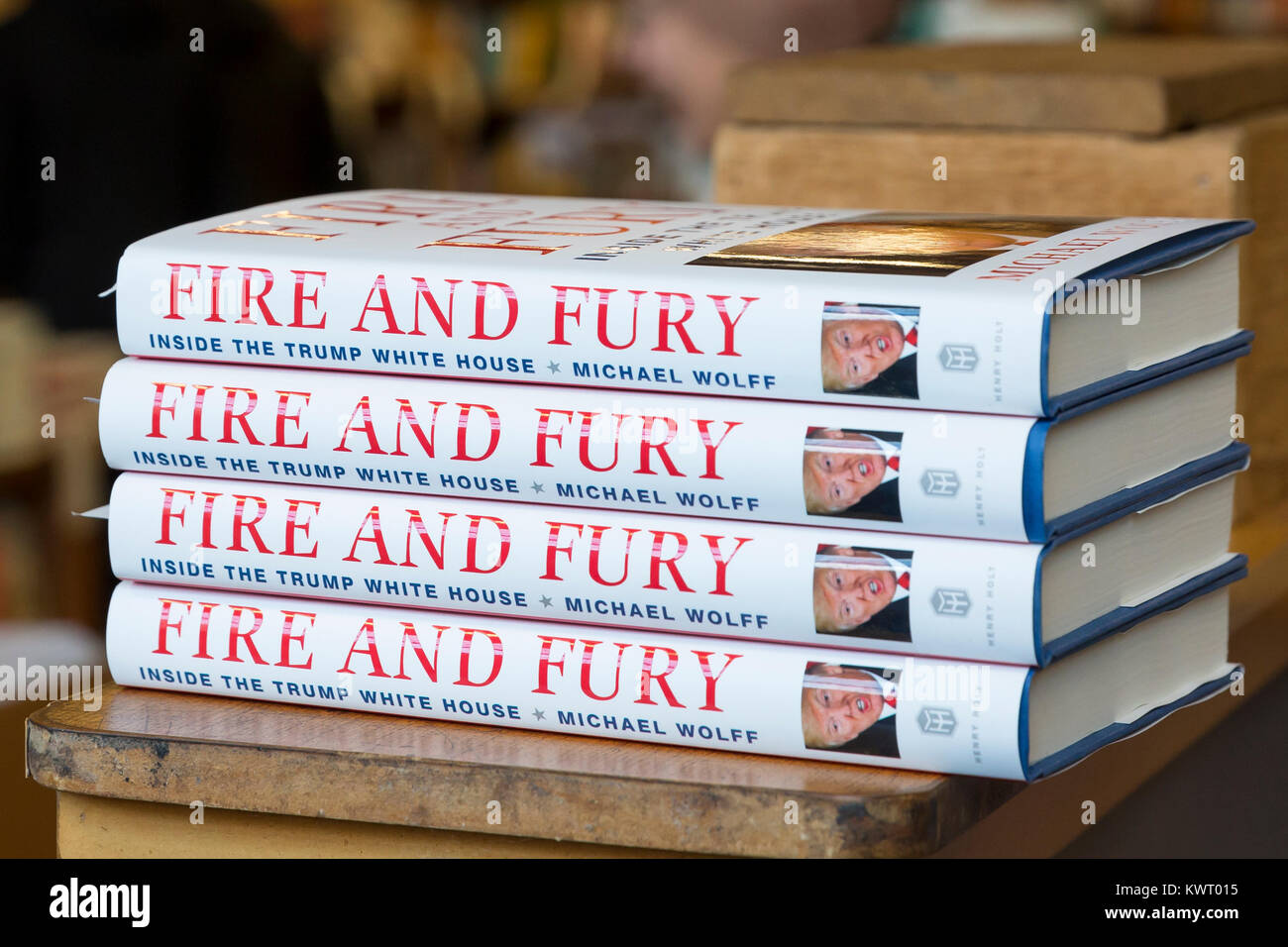 Seattle, USA. 05th Jan, 2018. Seattle Washington: Michael Wolff's book 'Fire and Fury: Inside the Trump - Stock Image
