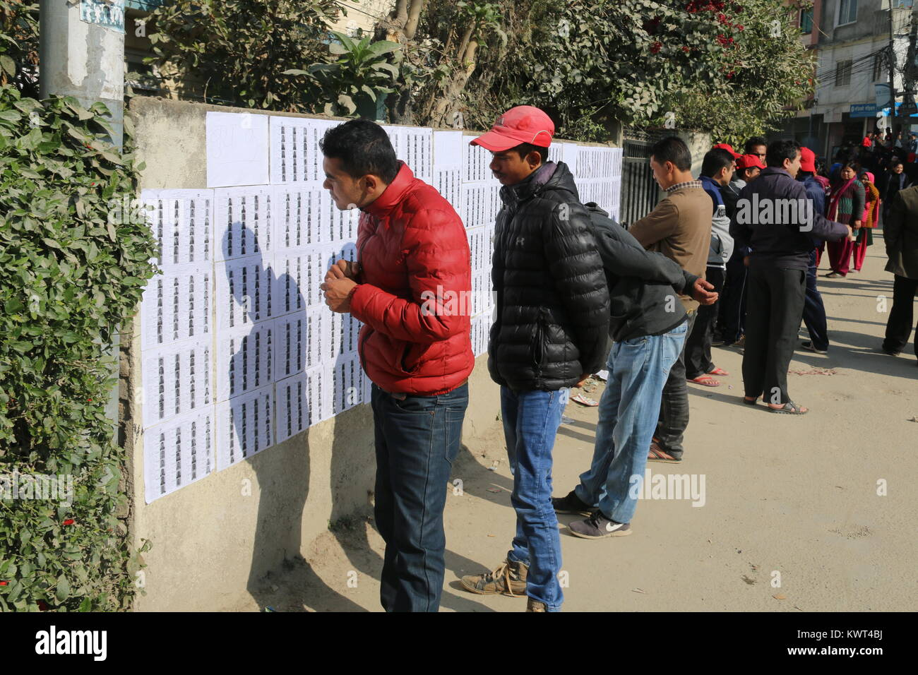 Millions of Nepalese are voting in the second phase of the parliamentary & provincial assembly elections in - Stock Image