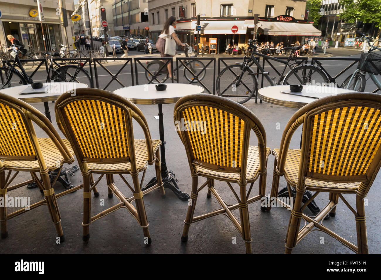 France, Paris, Cafe Chairs