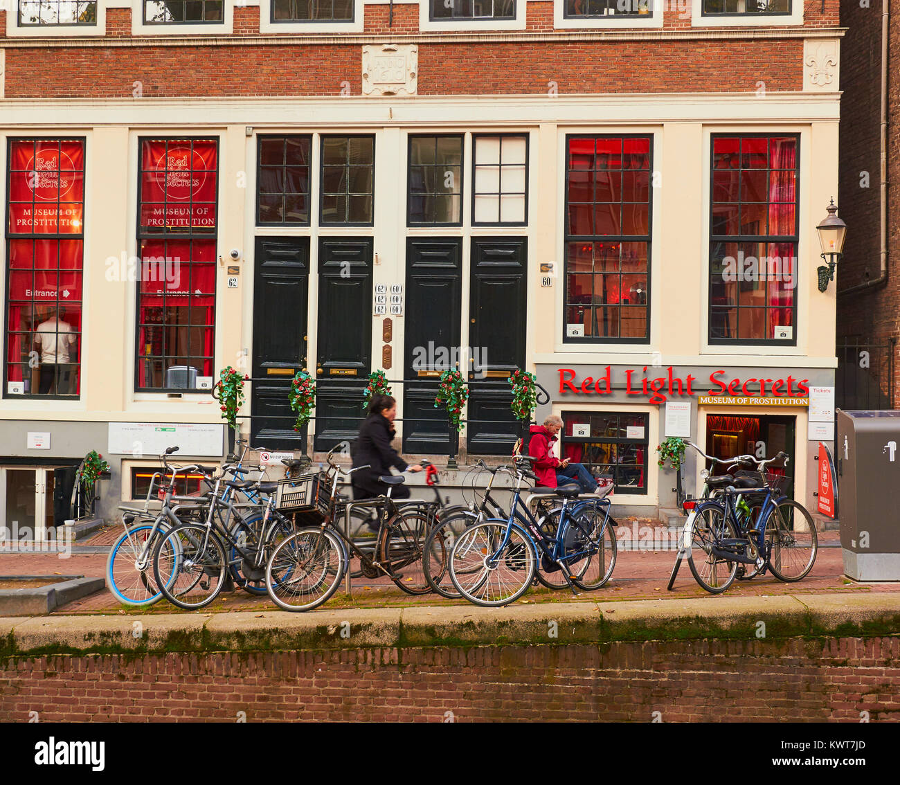 Museum of Prostitution (Red Light Secrets), red light district (De Wallen), Amsterdam, Netherlands - Stock Image