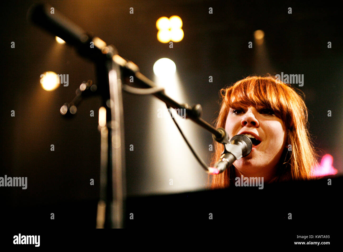 The English singer-songwriter and musician Kate Nash is here pictured at a live concert at Vega in Copenhagen. Kate - Stock Image