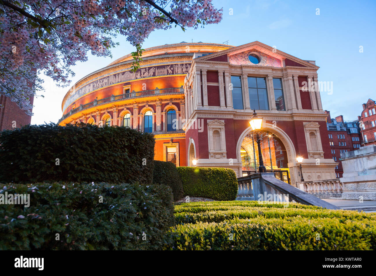 The Royal Albert Hall London, Victorian time architecture square Stock Photo