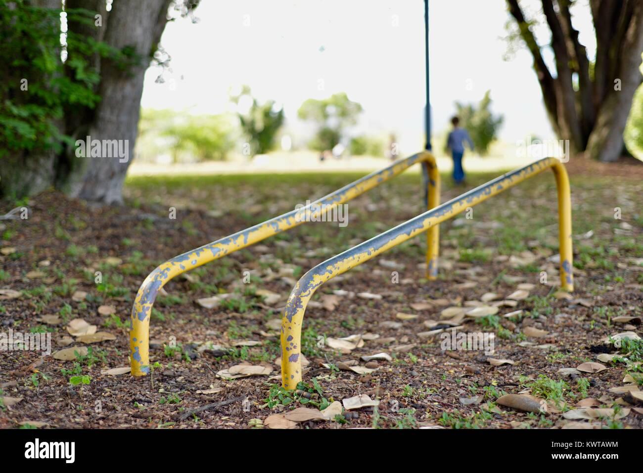 Exercise bars, Sherriff Park, Love Lane, Townsville, Queensland, Australia - Stock Image