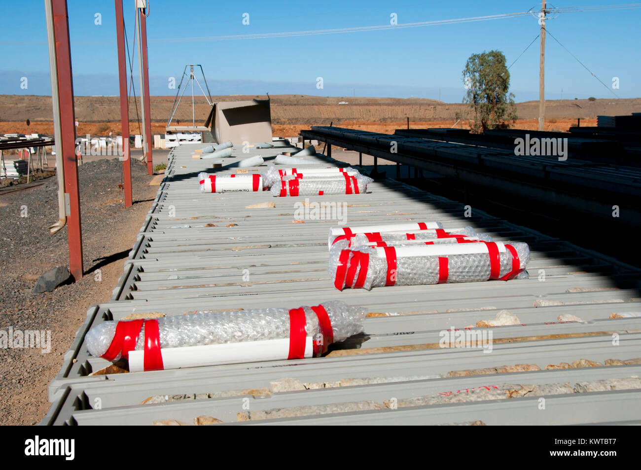 Geotechnical Rock Core Samples - Stock Image
