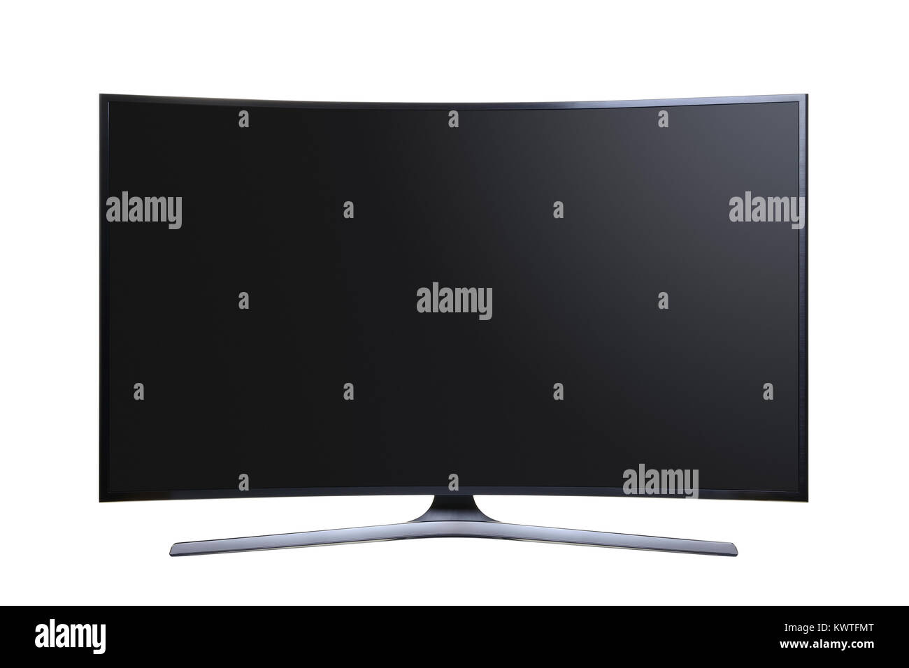 Curved Screen Ultra HD Television, Cut Out. - Stock Image