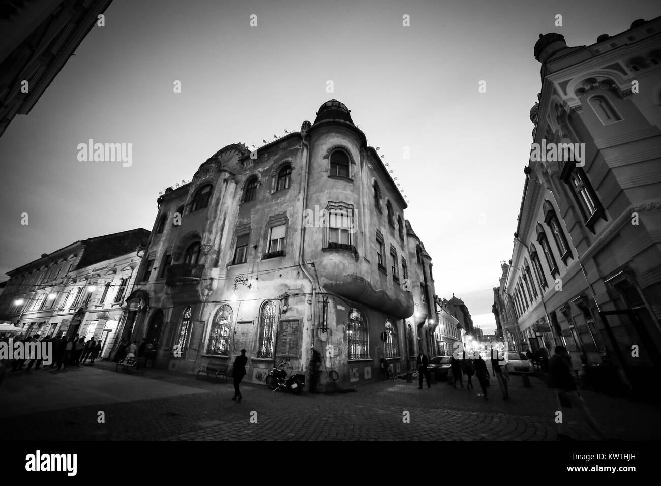 Gaudi style building in Piata Unirii (Union Square), Timisoara, Romania - Stock Image