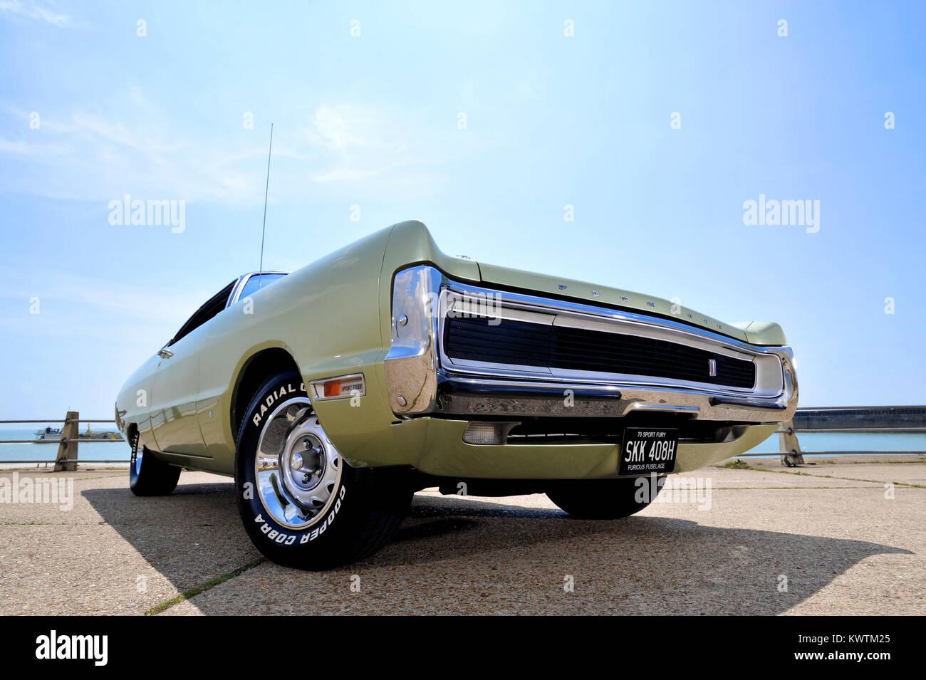 1970 Plymouth Sport Fury classic American Mopar muscle car Stock ...