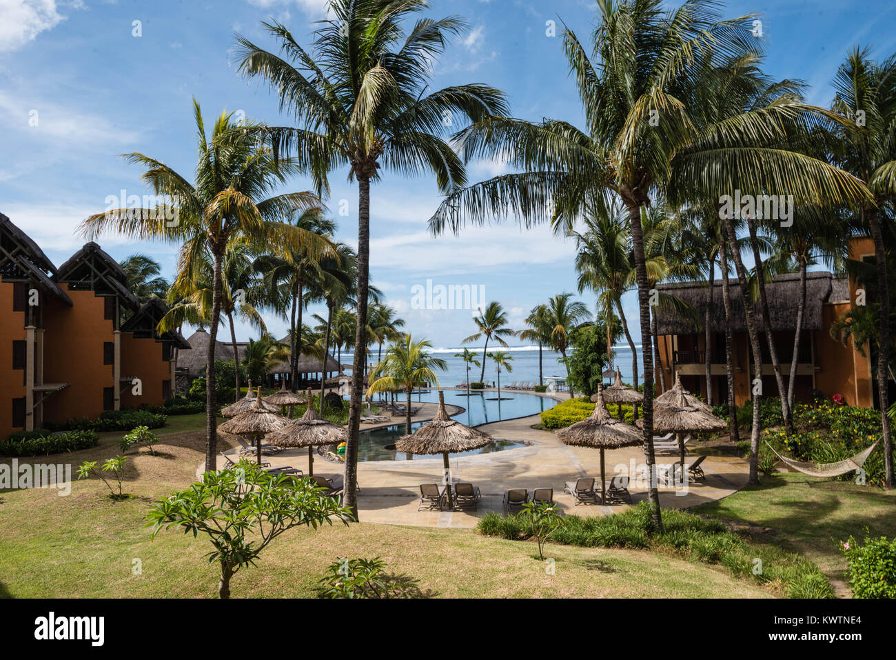 Mauritian hotel resort, Heritage Awali in the south of Mauritius, Bel Ombre - Stock Image