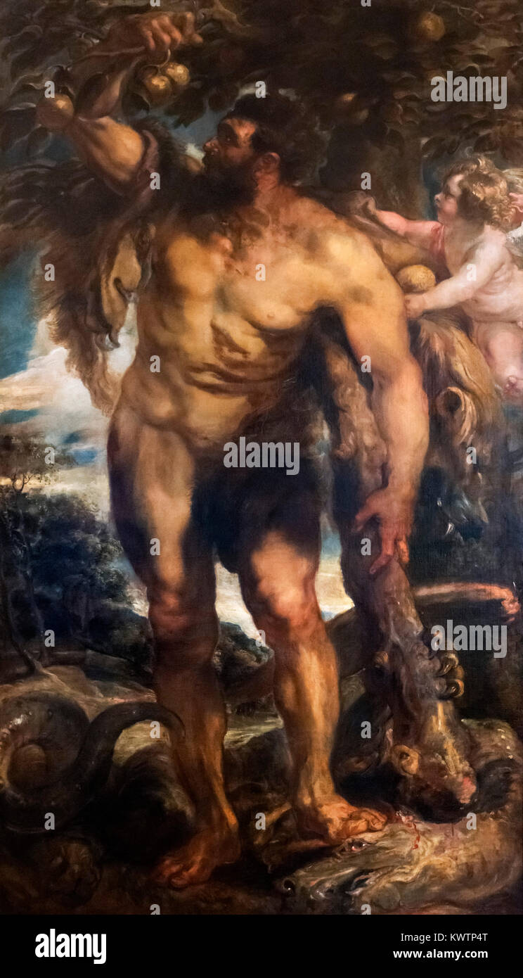 Hercules in the Garden of the Hesperides by Peter Paul Rubens (1577-1640), oil on canvas c.1638 - Stock Image
