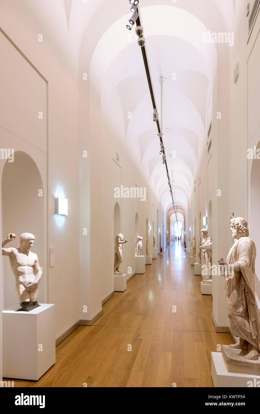Interior of the Sabauda Gallery, Palazzo Reale,Turin, Piedmont, Italy - Stock Image