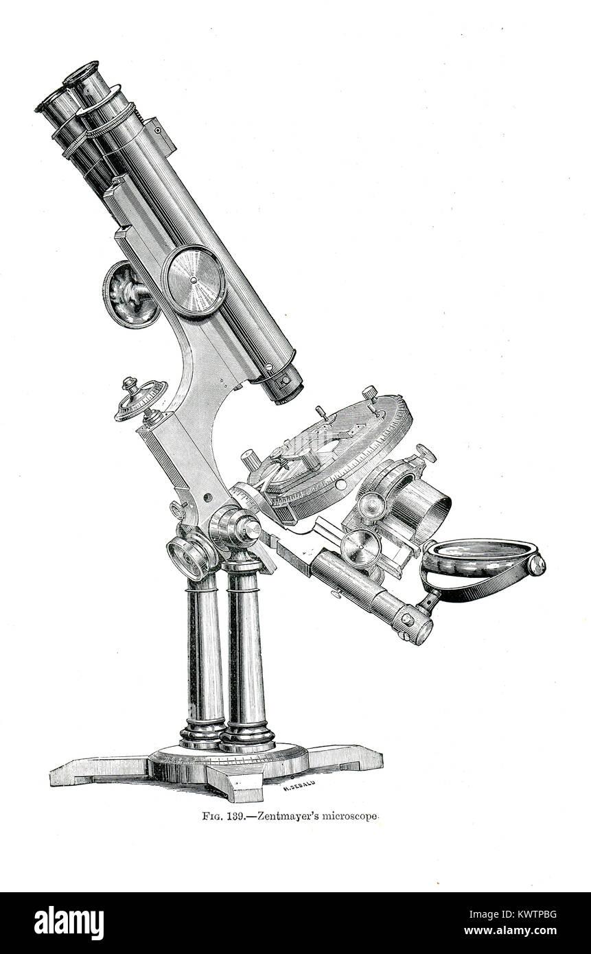 Joseph Zentmayer microscope - Stock Image