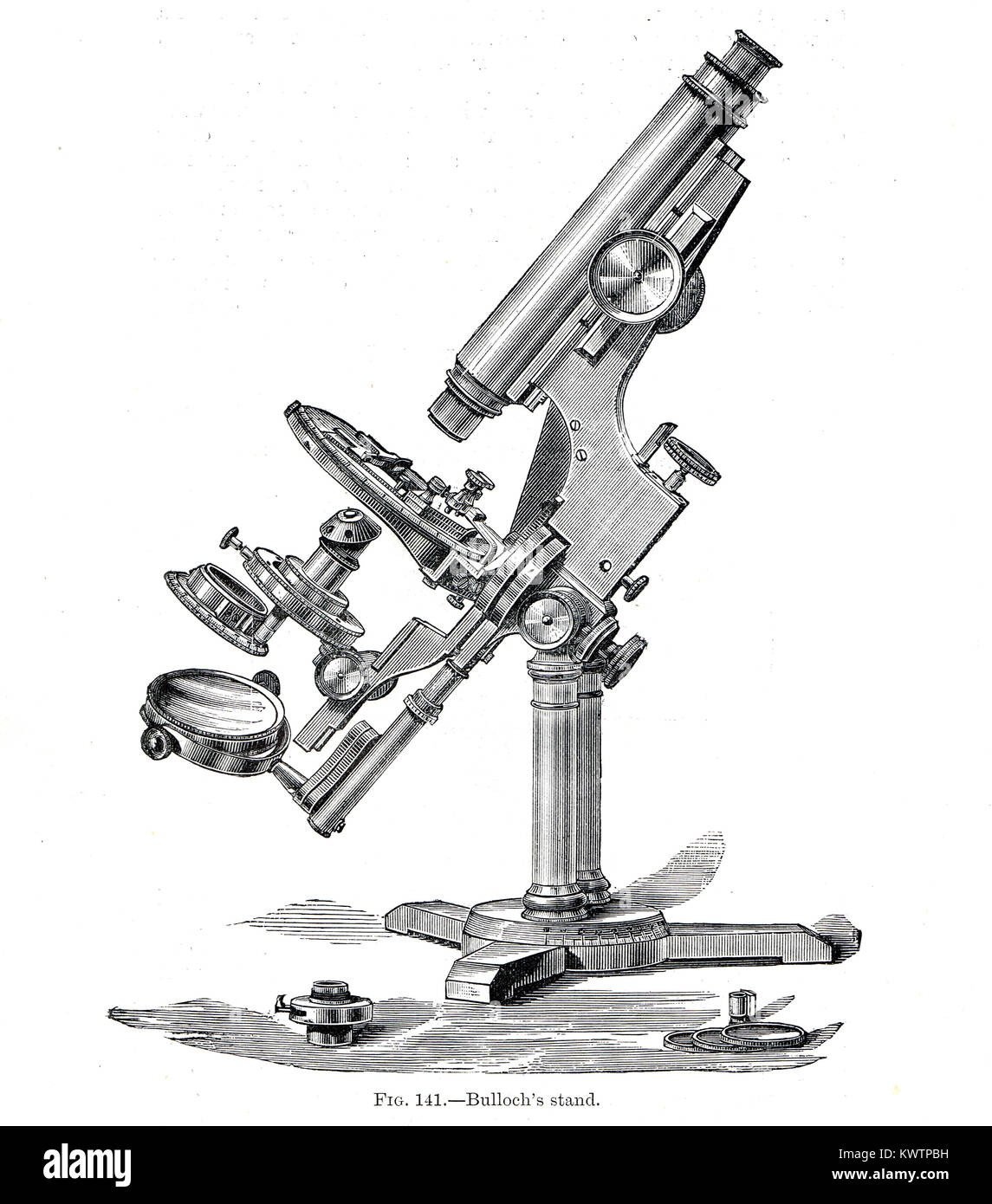 Bulloch's stand, microscope - Stock Image