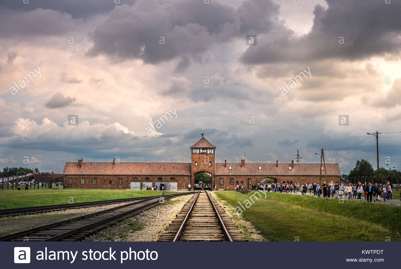 Auschwitz Birkenau concentration camp - Stock Image