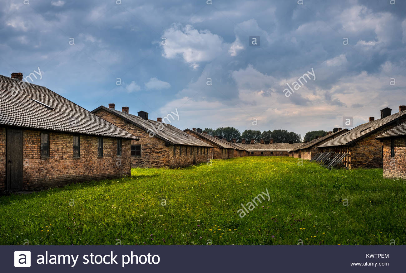 Auschwitz concentration camp - death camp - Stock Image