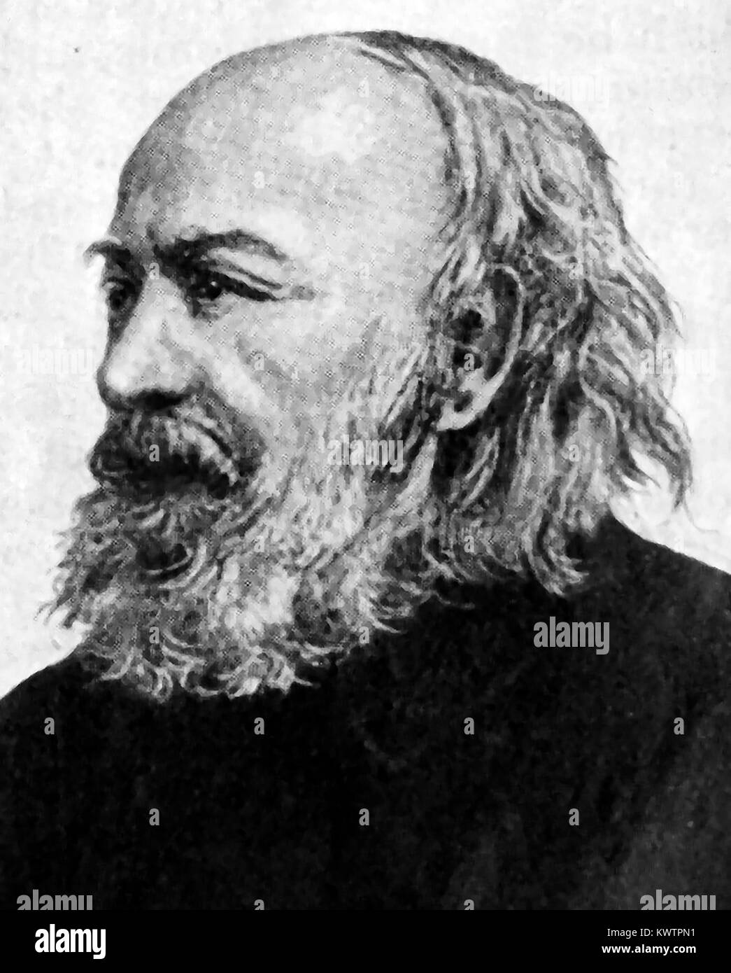 SIR EDWIN CHADWICK KCB - English barrister Victorian social reformer of Poor Laws &   improvements in  sanitation - Stock Image