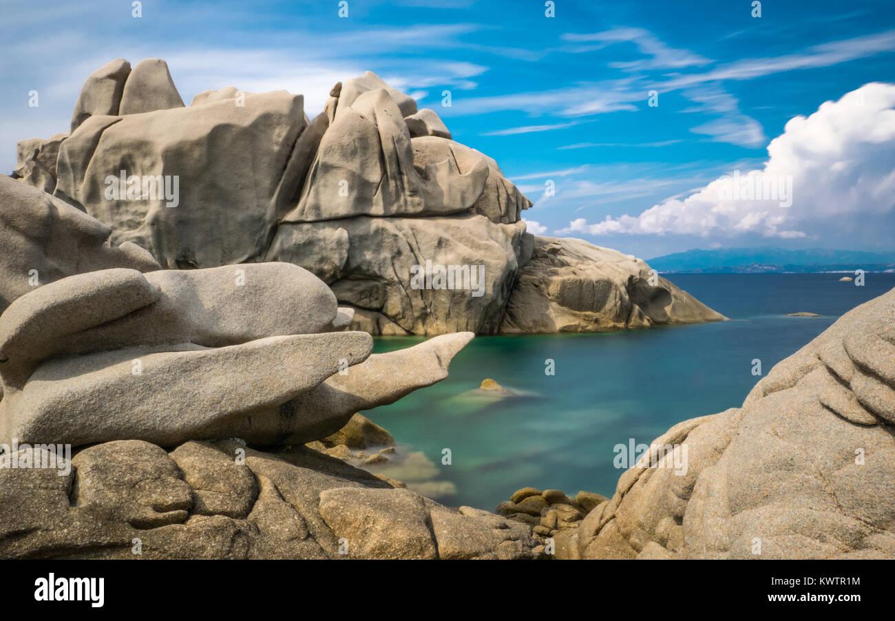 Rock formations at Capo Testa, Sardinia - Stock Image