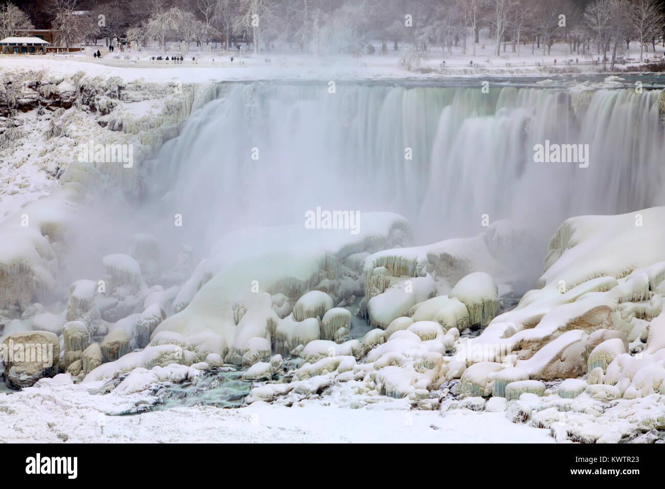 Niagara Falls Ice Studies Jan 2018 Stock Photo 170804651