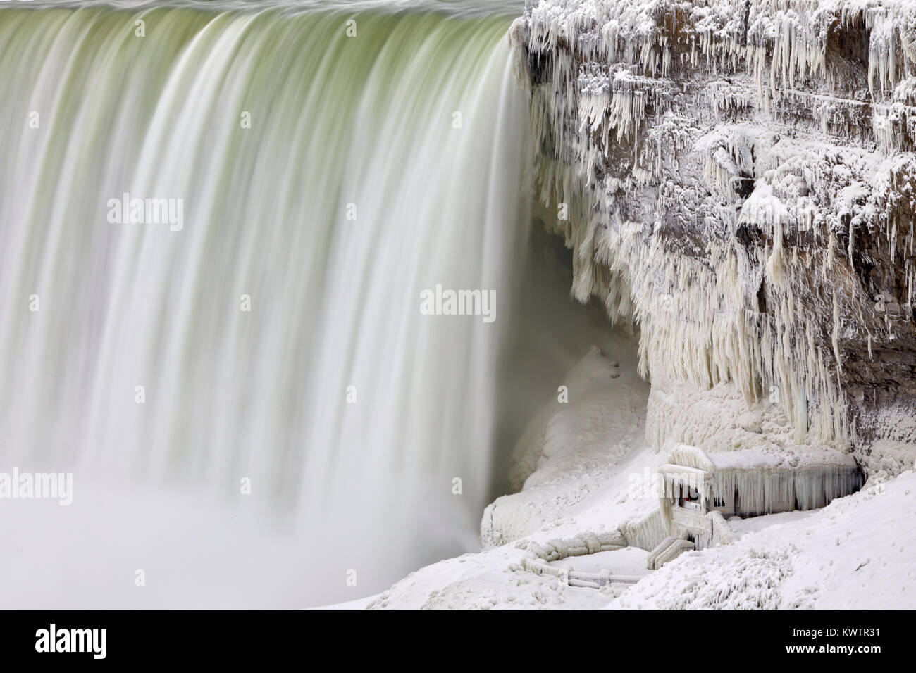 Niagara Falls - Ice Studies Jan 2018 Stock Photo