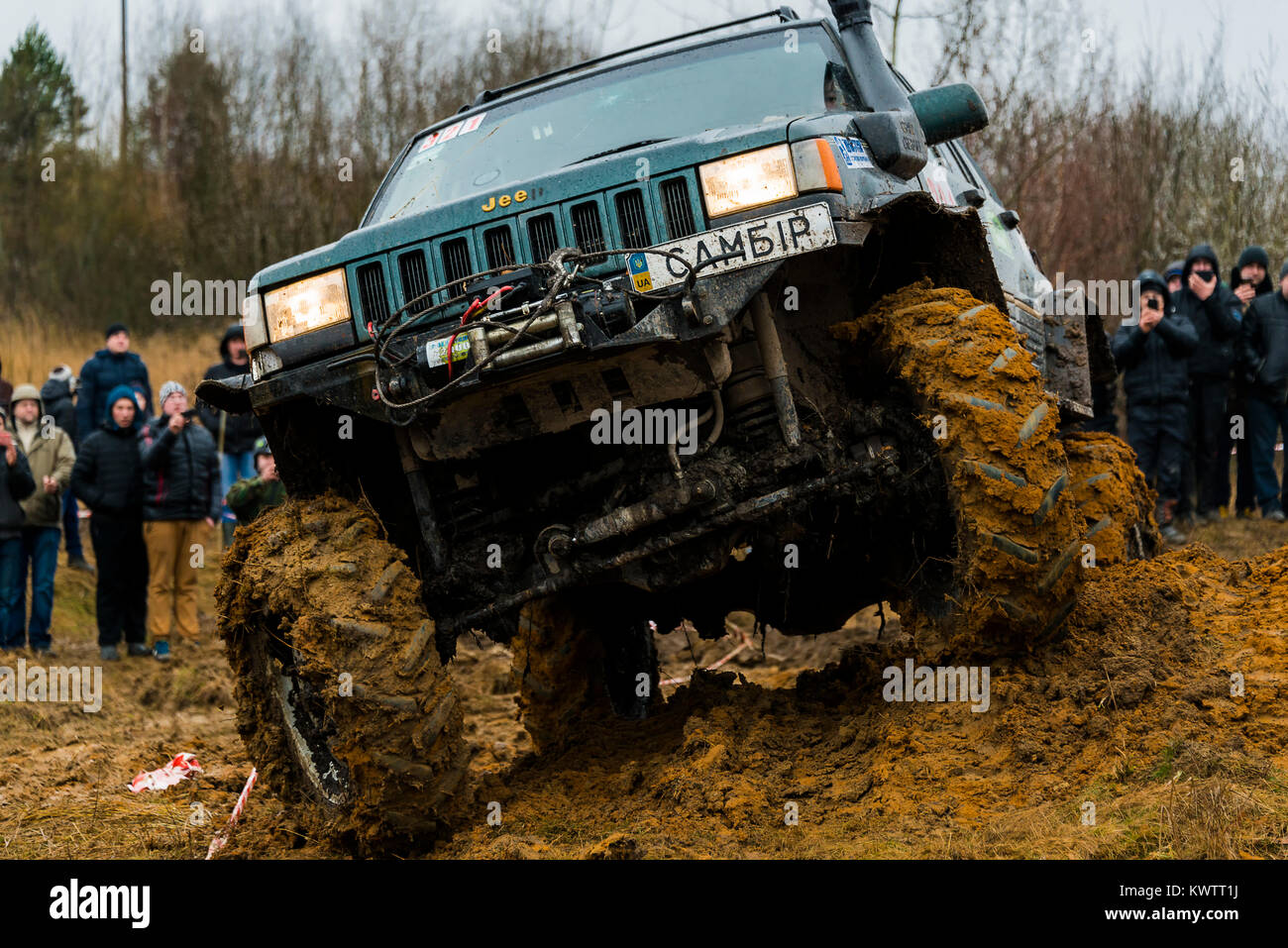 Lviv, Ukraine - February 21, 2016: Off-road vehicle brand