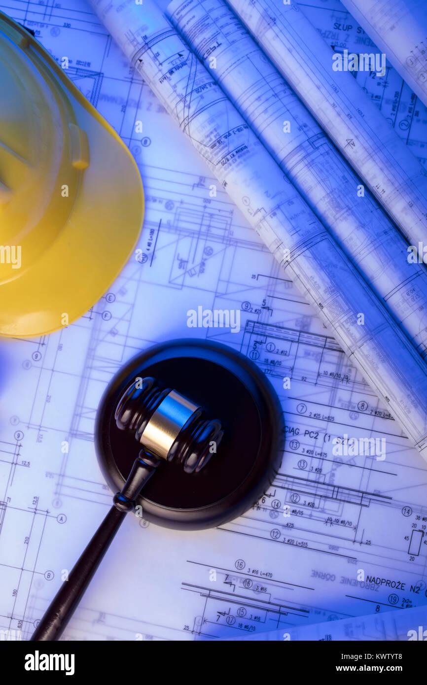 Libela stock photos libela stock images alamy labor and construction law concept gavel libela helmet and blueprint rolls malvernweather Images