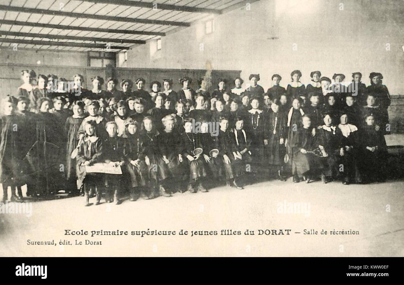 École Primaires Supérieure de jeunes filles du Dorat (Haute-Vienne) - Stock Image