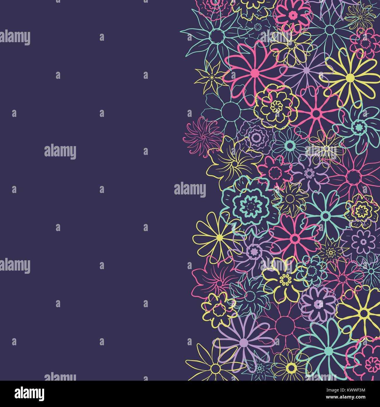 cute floral background in the small flower ditsy print vector