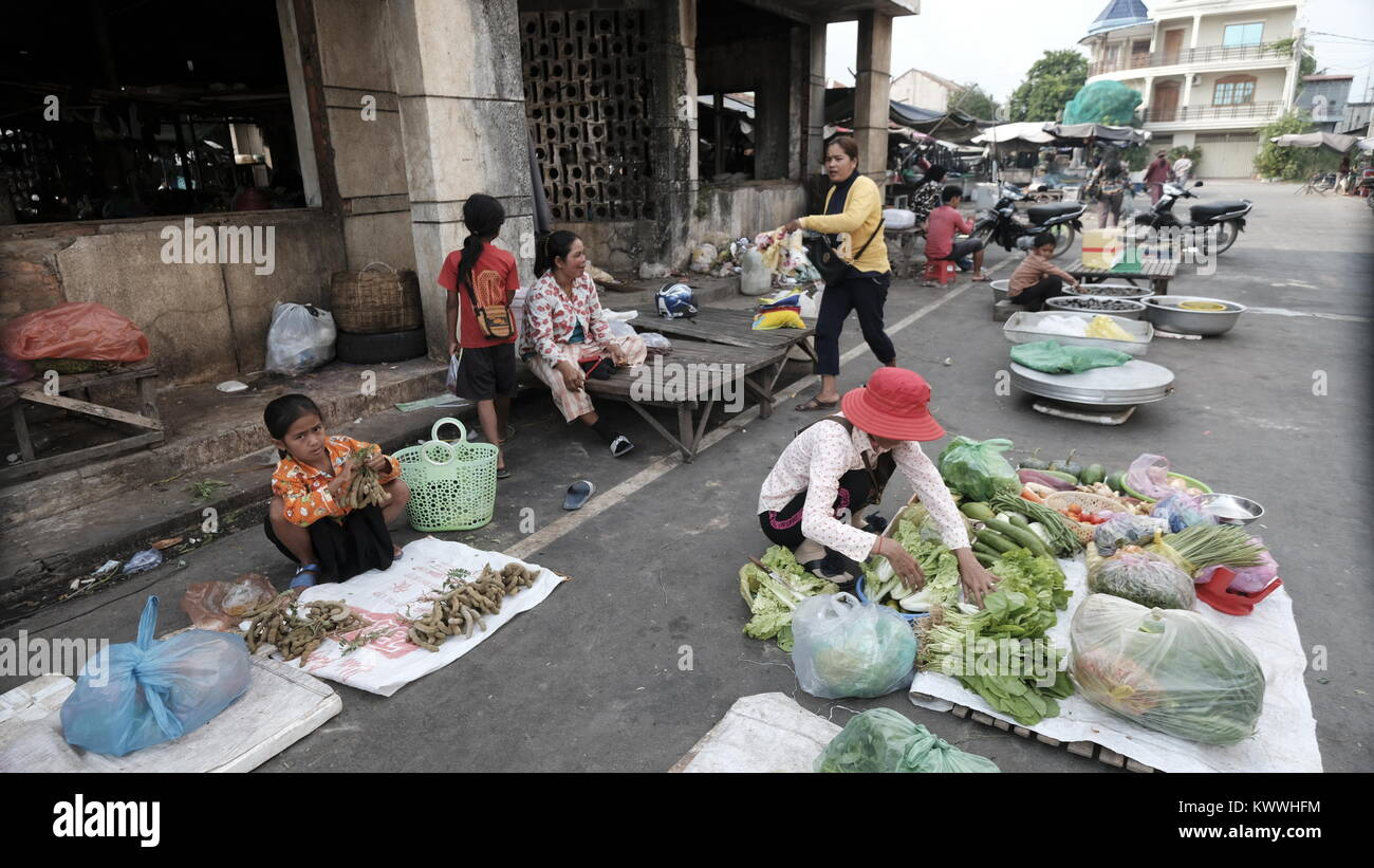 Takeo Cambodia Decrepit Third World Underdeveloped Country South East Asia Unseen and Forgotten - Stock Image