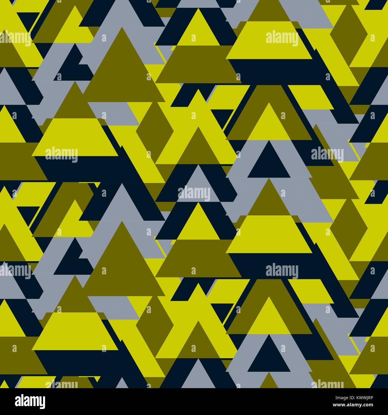 Triangle camo bold seamless vector pattern. - Stock Image