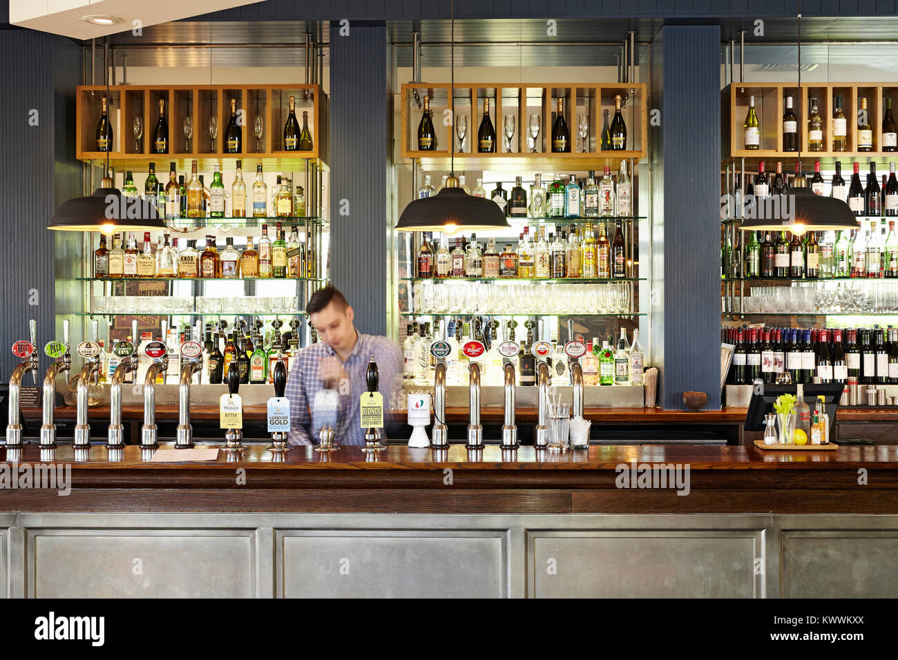 The Beaufort pub and restaurant in Colindale, North London, England - Stock Image