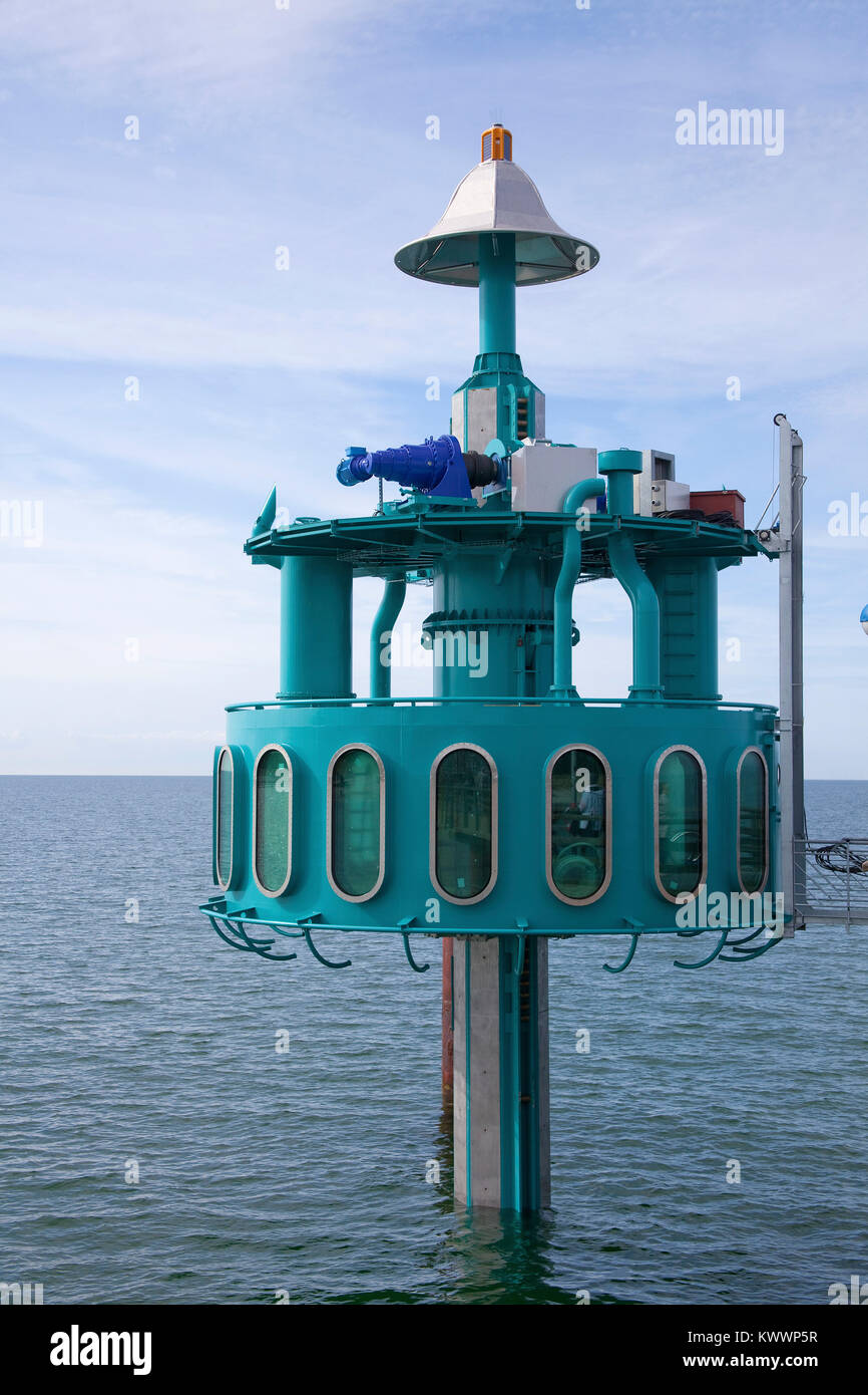 Dive bell at end of the pier, Zingst, Fishland, Mecklenburg-Western Pomerania, Baltic sea, Germany, Europe Stock Photo
