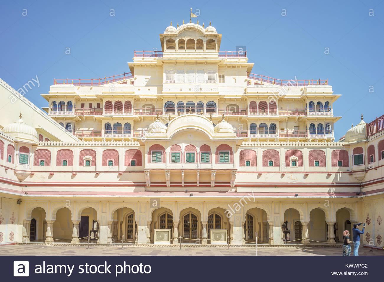 city palace, Jaipur, India - Stock Image
