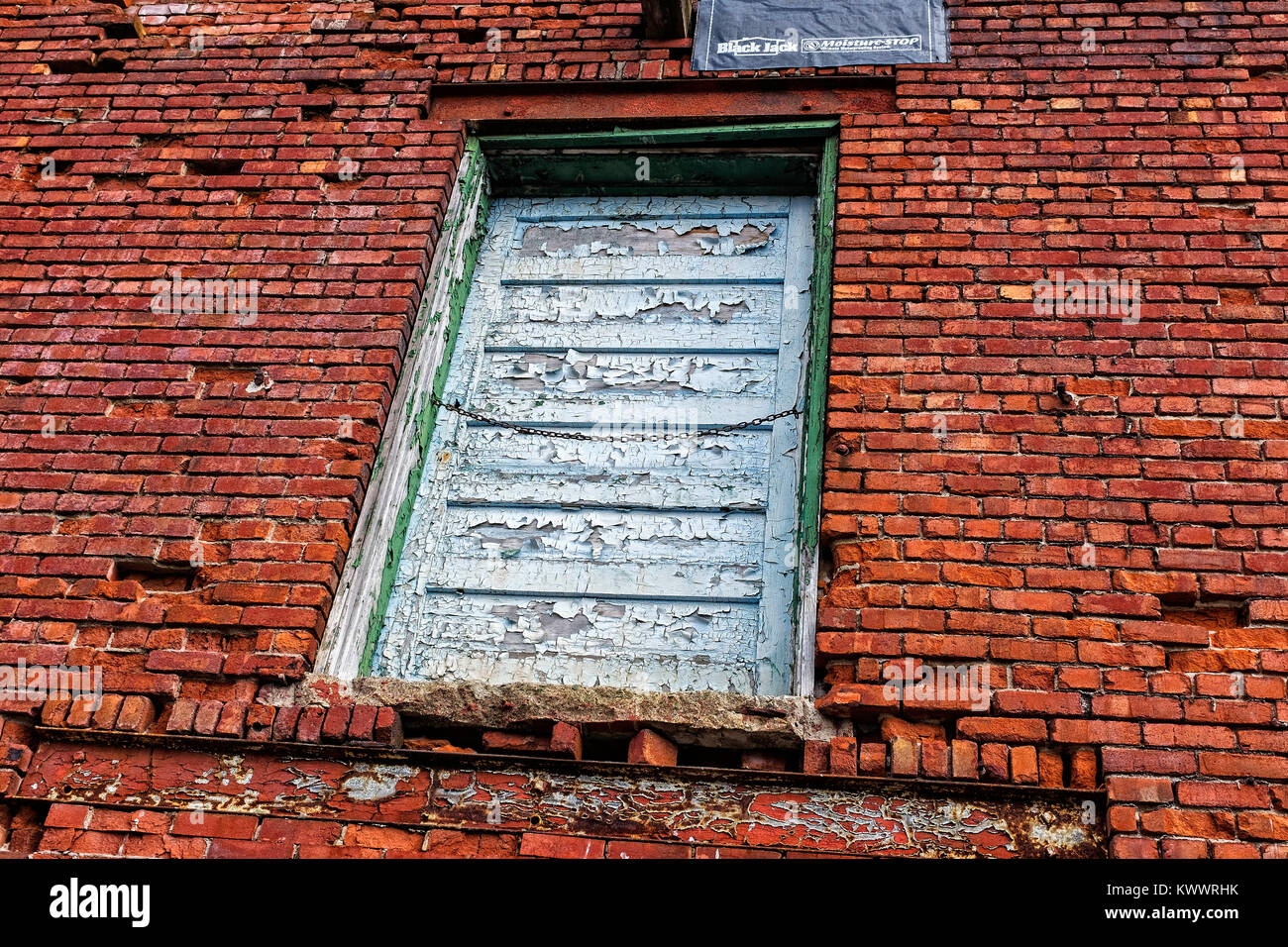 An old brick building in the west end of Sudbury - Stock Image